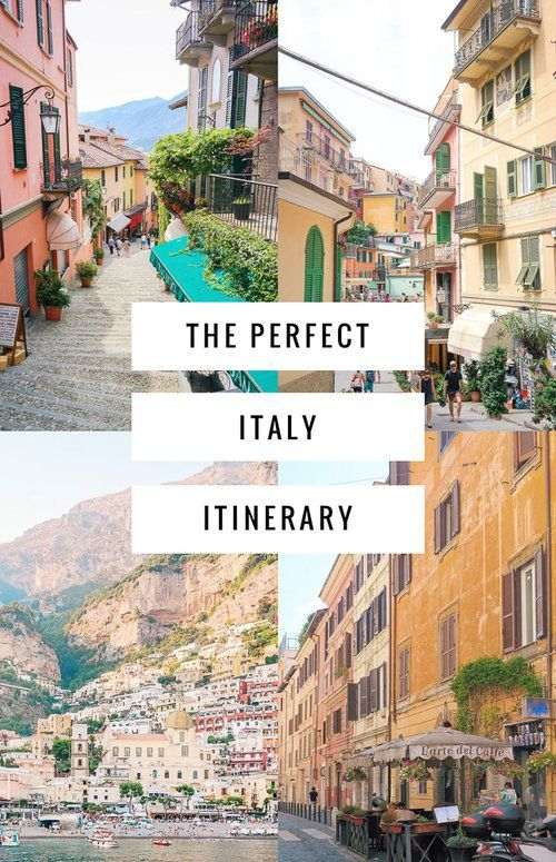 The perfect 3 week Italy itinerary including the Amalfi Coast, Cinque Terre, Florence, Rome and more! #italy #europe