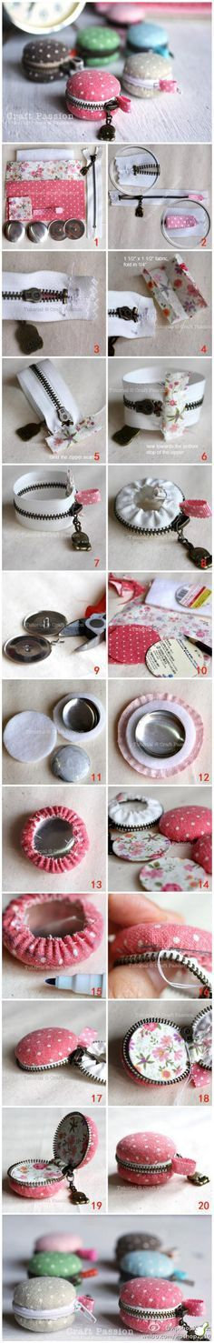 How to sew a macaroon coin purse.