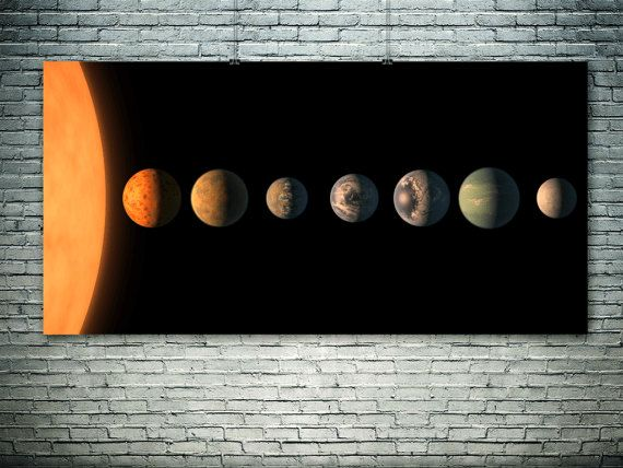 TRAPPIST-1 Exoplanet Discovery.NASA art print by PasteUpStore