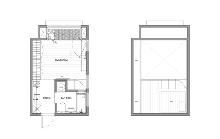 Gallery of 22m2 Apartment in Taiwan / A Little Design - 22