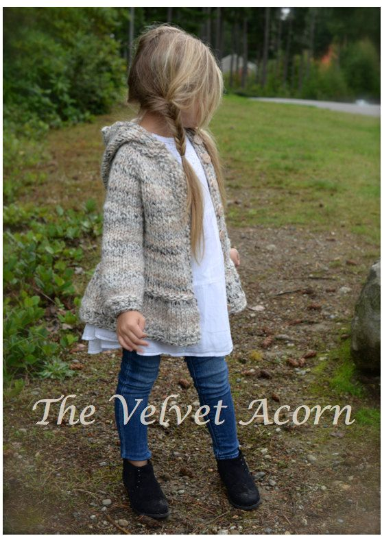 KNITTING PATTERN-The Cloudyn Sweater 2/3 4/5 by Thevelvetacorn