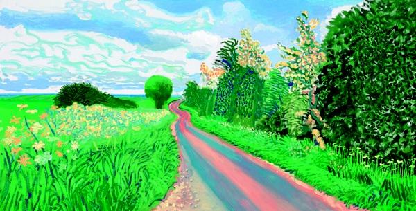 David Hockney - Early Blossom 2009