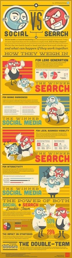 Social vs. Search #infografia