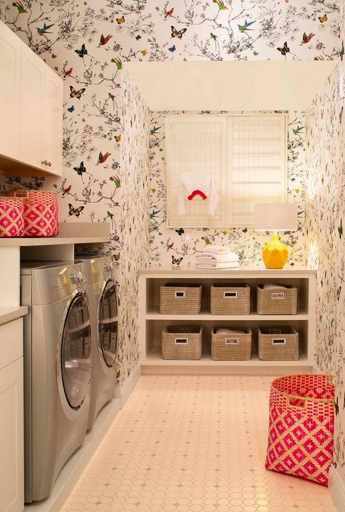 Borboletas na lavanderia. Porque não?