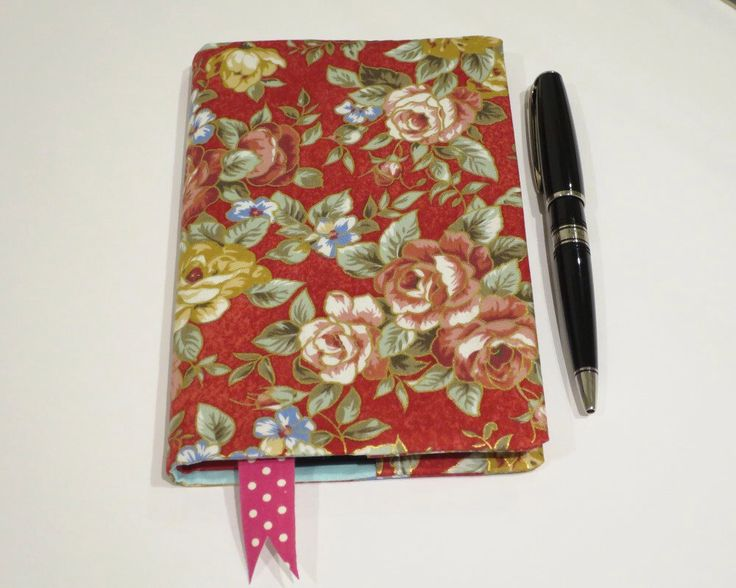 Fabric Book Cover with Bookmark, Suits A6 Notebook, Bonus Notebook Included, Pretty Floral Print Cotton Fabric, Notebook for Handbag by JadoreBooks on Etsy https://www.etsy.com/listing/261124001/fabric-book-cover-with-bookmark-suits-a6