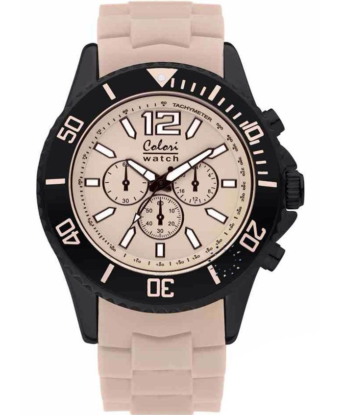 COLORI Cool Chrono Beige Silicone Strap Τιμή: 69€ http://www.oroloi.gr/product_info.php?products_id=35123