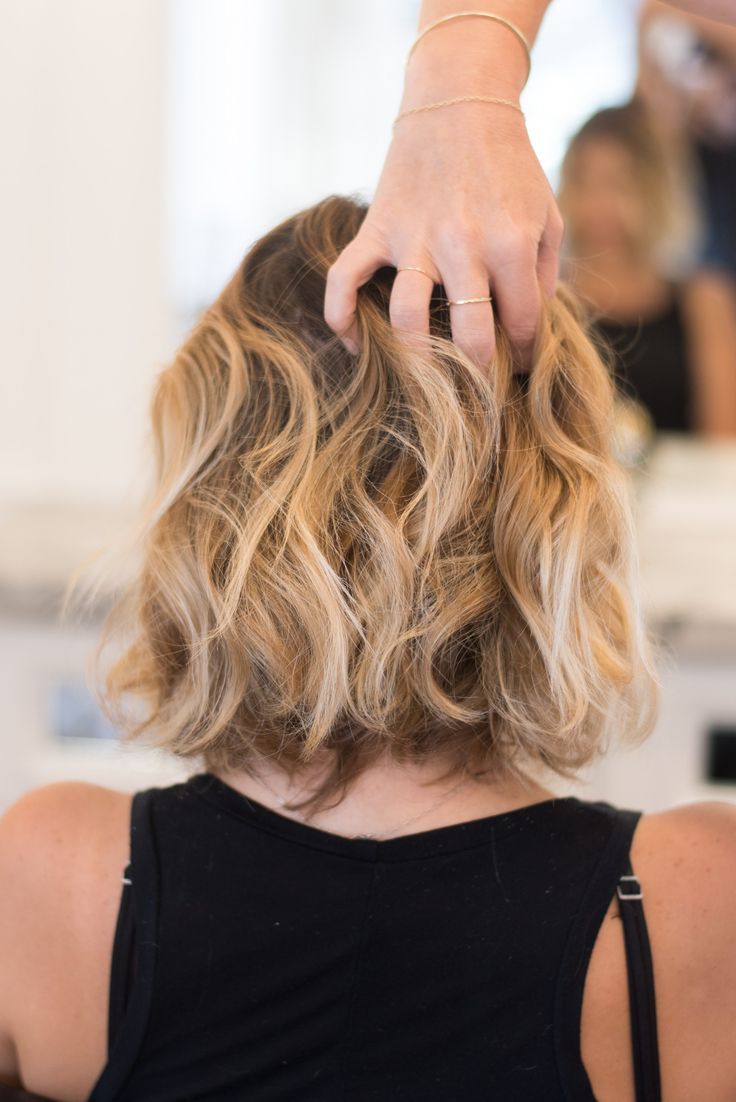 how to get beach wavy hair for short hair