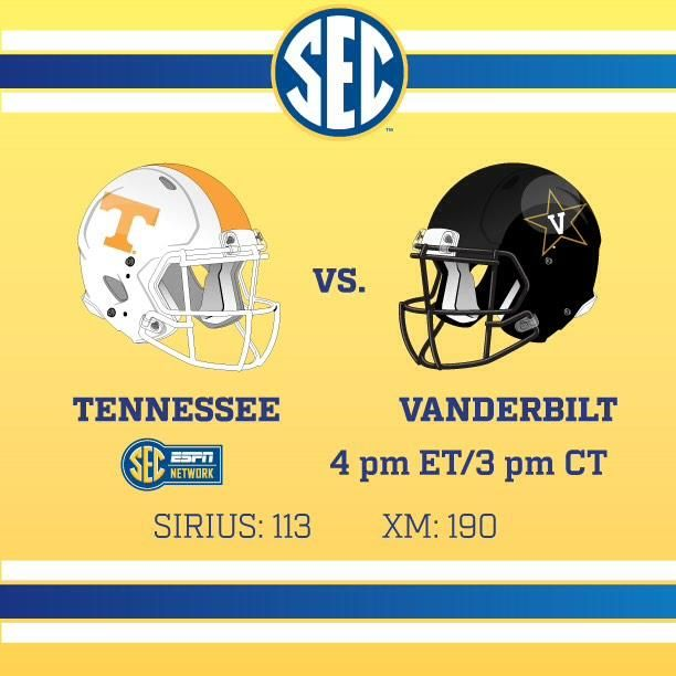 Coming up next on the @SECNetwork, Tennessee vs Vanderbilt at 4 pm ET. #SEC