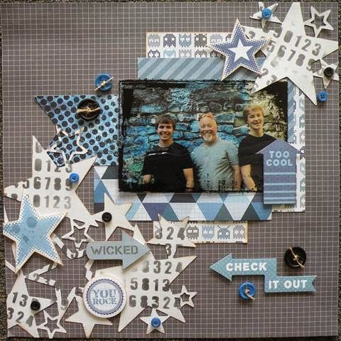 Two Scrapbook Friends: Kiasercraft 'Off The Wall' With Amanda