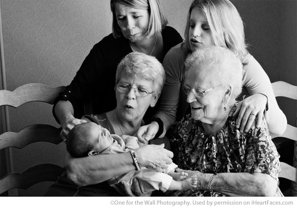 Inspiring Grandparent Photo Ideas - Portrait by One for the Wall Photography via iHeartFaces.com