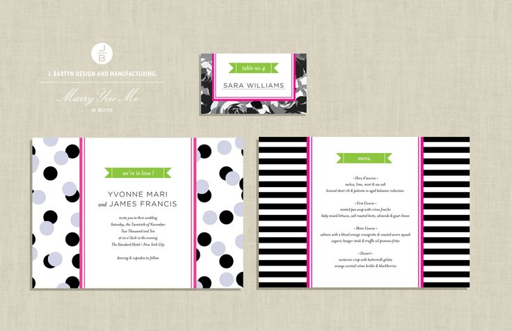 Marry You Me & J. Bartyn Exclusive Free Download: Preppy + Mod Invitation Suite