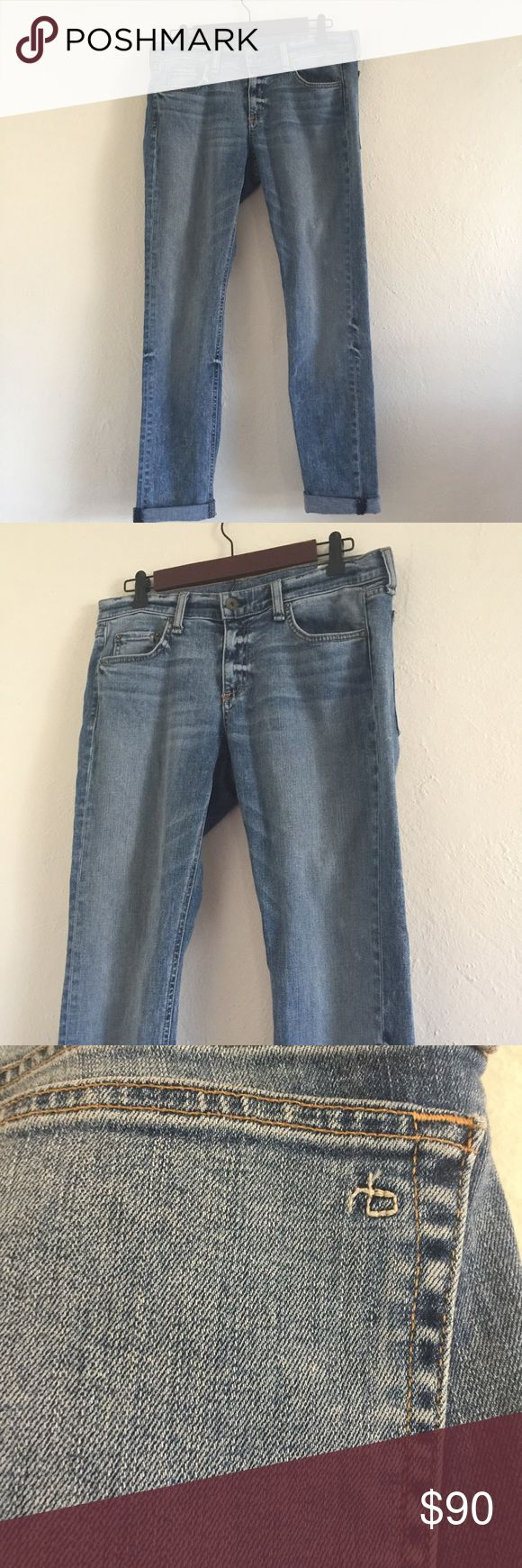 Rag and Bone Dre Acid Blue 28 jeans like New Excellent preloved condition! Size 28. Style w1590k510acb color acid blue cut 15188 98%cotton 2% polyurethane 16in flat lay rise 9in inseam 30.5 ankle 6in flat any questions please ask! rag & bone Jeans Boyfriend