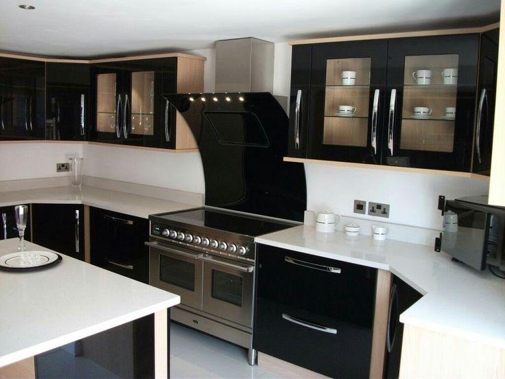 Ideas de cocinas en blanco y negro