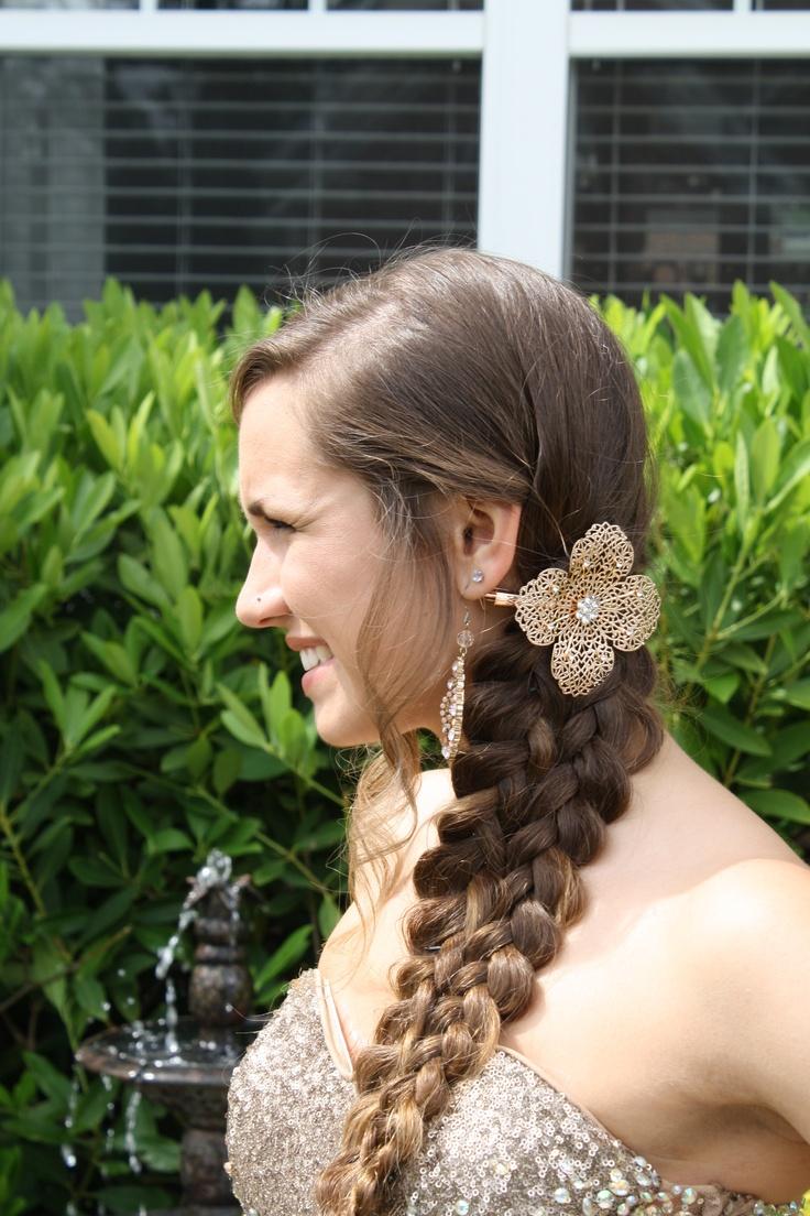 mermaid tail braid. prom