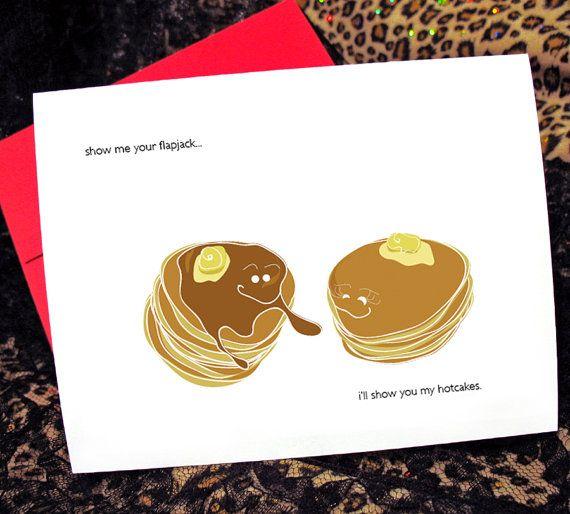 Naughty Pancakes Valentines Card