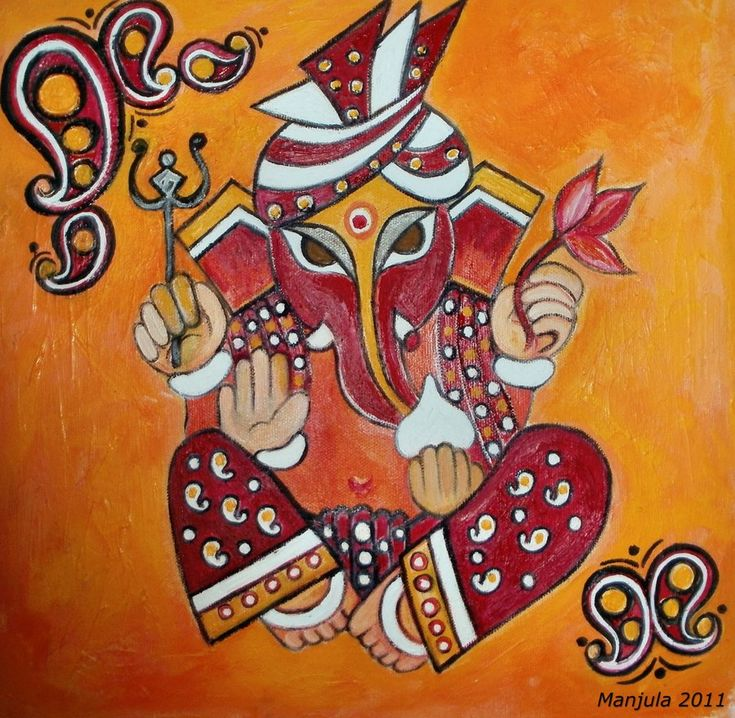 Ganesha with Lotus by manjulak.deviantart.com