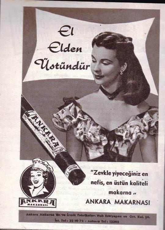 1960lı yıllar Nuhun Ankara Makarnası Afiş