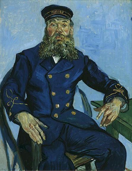 Portrait of the Postman Joseph Roulin | Vincent Van Gogh | oil painting #vangoghpaintings