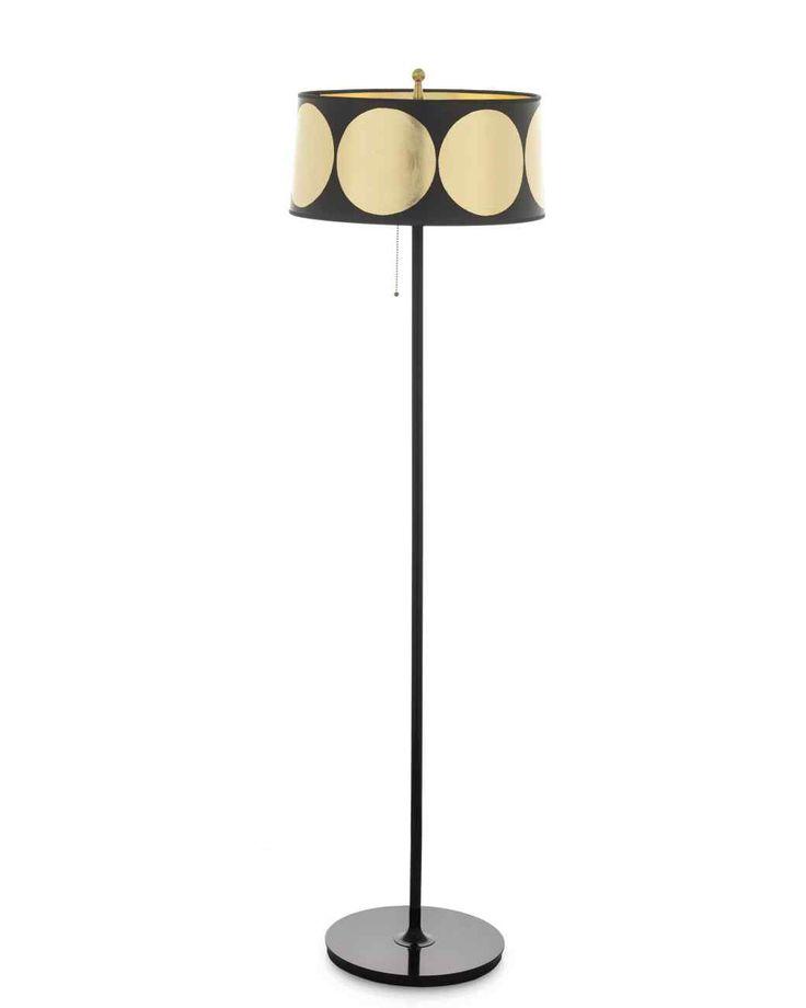 Sombra dorada lámpara de pie