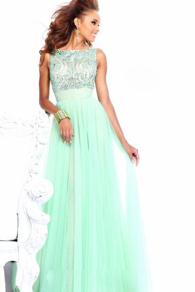 Shop Prom Dresses 2013 Scoop Floor Length Tulle Handmade Beadings & gowns inexpensive, formal & vogue party dresses boutique online.