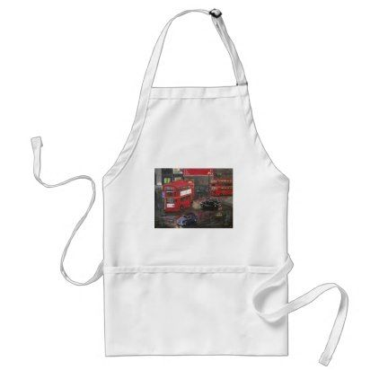 Evening in London Piccadilly Adult Apron - retro kitchen gifts vintage custom diy cyo personalize