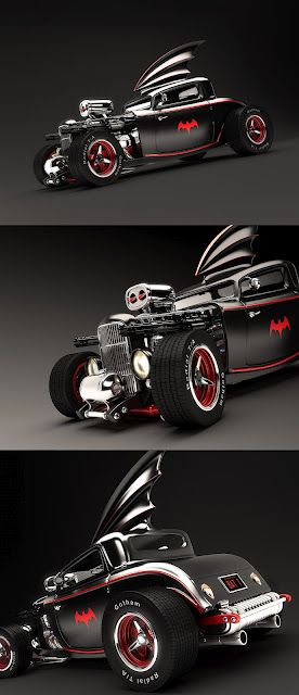 '50s Hot Rod Batmobile...Brought to you by #House of #insurance #Eugene, #Oregon #97401 #Best #autorates in #eugene #call for a #free #quote 541-345-4191
