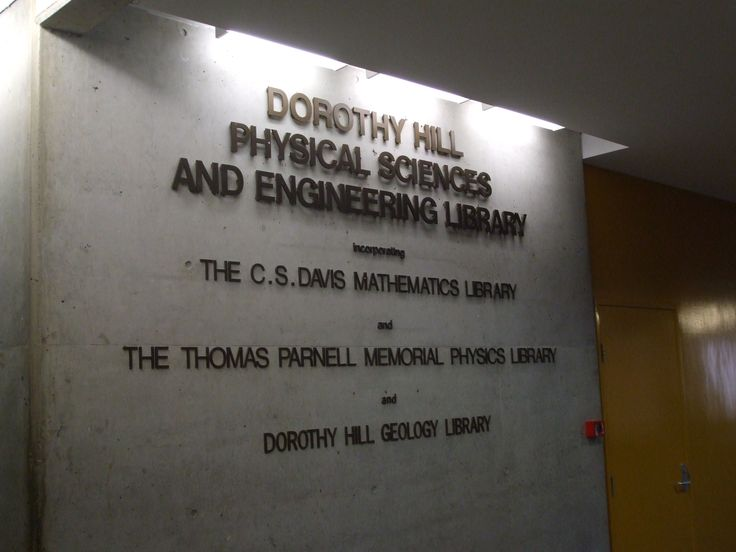 Physical sciences and engineering library
