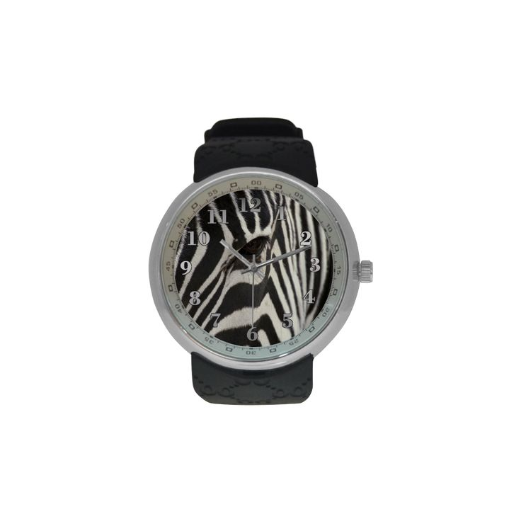 Zebra Men's Resin Strap Watch. FREE Shipping. #artsadd #watches #zebra
