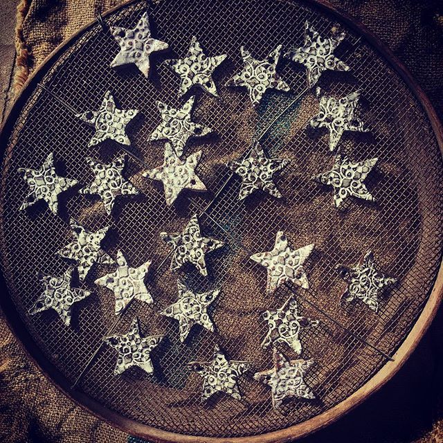 Star ⭐️ Light, Star ⭐️ Bright.... #pottery#stoneware#hang#stars#textured#handbuiltbyme#interiors#festiv#christmas#December#decor#ceramics#homewares#decor#bespoke#studio#allfiredup