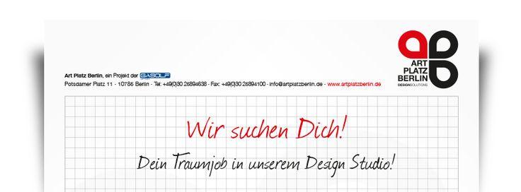 Erfahre mehr zu unseren Ausschreibungen (Jobs) in unserer Werbeagentur - im Herzen von Berlin am Potsdamer Platz. Weitere Infos zu unseren #Ausschreibungen auf www.artplatzberlin.de!