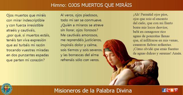 MISIONEROS DE LA PALABRA DIVINA: HIMNO LAUDES - OJOS MUERTOS QUE MIRÁIS