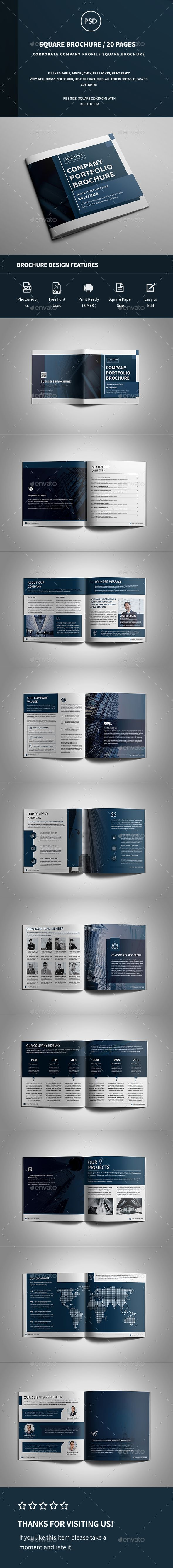 Square Company Profile Brochure - Corporate Brochures Download here : https://graphicriver.net/item/square-company-profile-brochure/19465791?s_rank=45&ref=Al-fatih