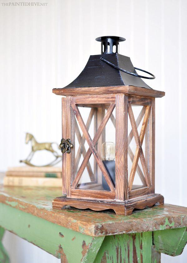 DIY Lantern Lamp | The Painted Hive