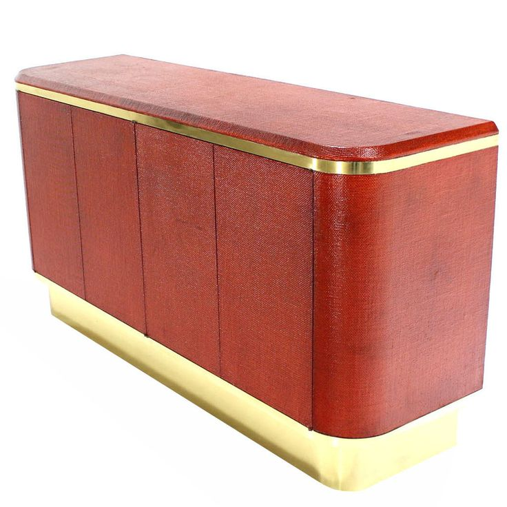 Grass Cloth Brass Credenza Or Cabinet Or Sideboard | See More Antique And  Modern Credenzas At