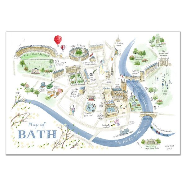 Alice Tait 'Map of Bath' Print - Alice Tait Shop