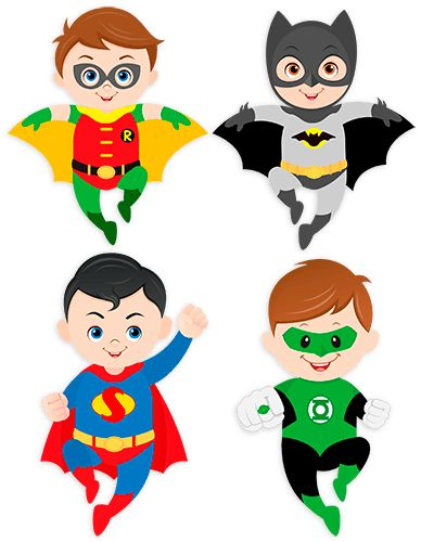 Vinilos Infantiles: Kit Superhéroes volando