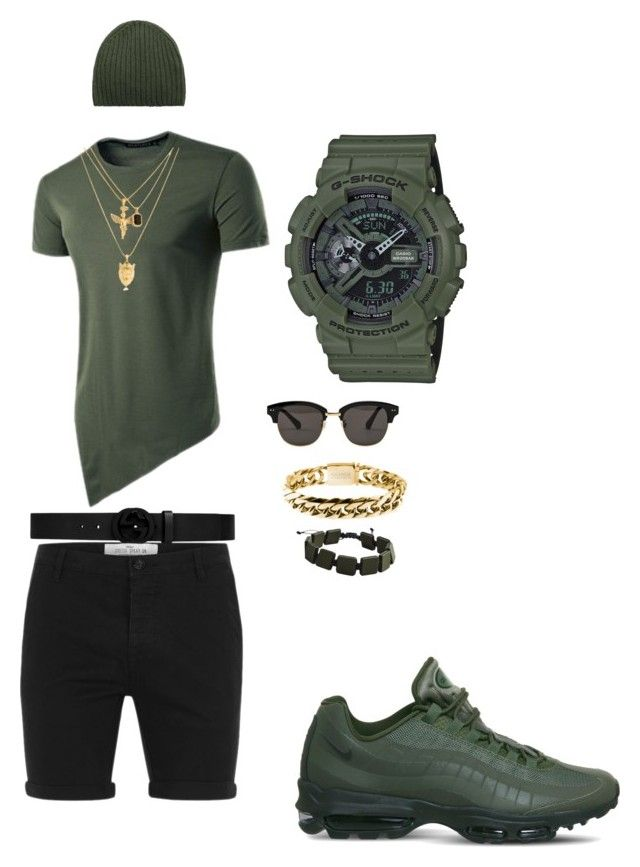 Grown man stuff by tikitress on Polyvore featuring Topman, NIKE, G-Shock, Gentle Monster, Gucci, MANGO, Rocawear, men's fashion and menswear