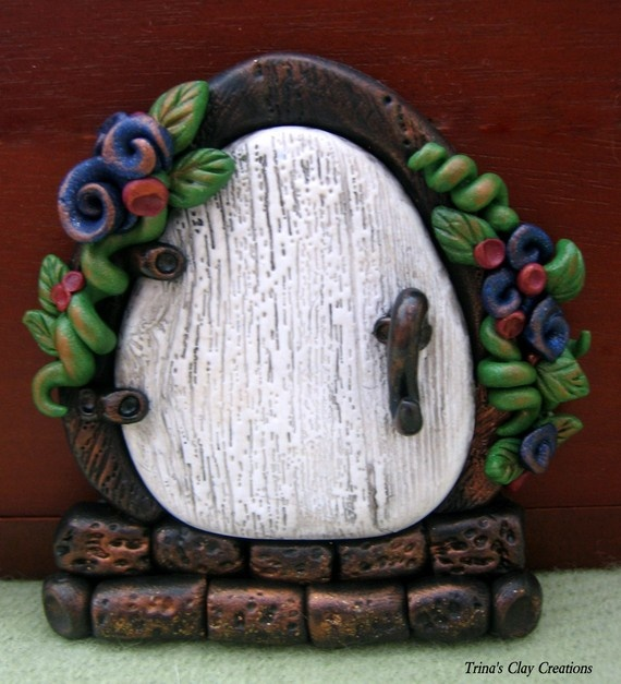 48 best polymer clay fairy doors tutorials images on How to make a fairy door out of clay