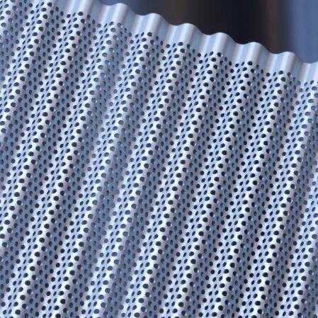 Resultado de imagen de cerca ondulada perforada