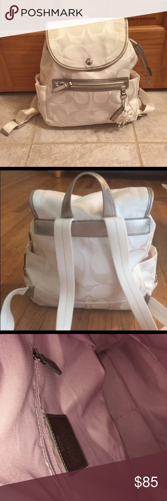 Coach backpack Perfect condition! Does not come with flower chain but does come with the coach chain! Coach Bags Backpacks