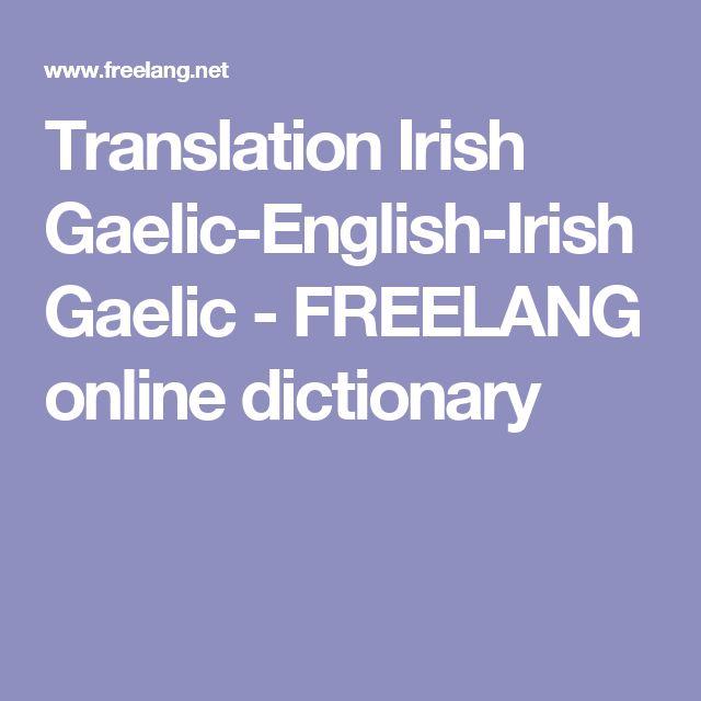 Best 25+ English to gaelic translation ideas on Pinterest ... - photo#40