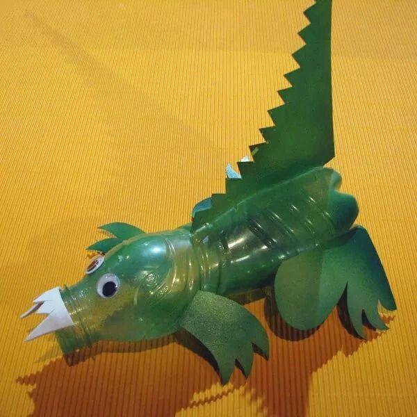 Dragon from plastic bottles