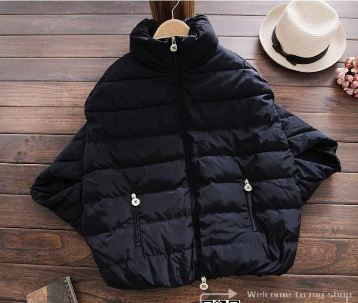 Alibaba グループ | AliExpress.comの 及びParkas からの        サイズs: チェスト: 106ショルダー: 39長さ: 63サイズm: チェスト: 110ショルダー: 43長さ: 64サイズl: チェスト: 中の 新しい女性のファッションの販売フル2015ダウンコート冬ジャケットアウターウェアバットスリーブ太いでdc01オーバーコートパーカ女性のジャケット