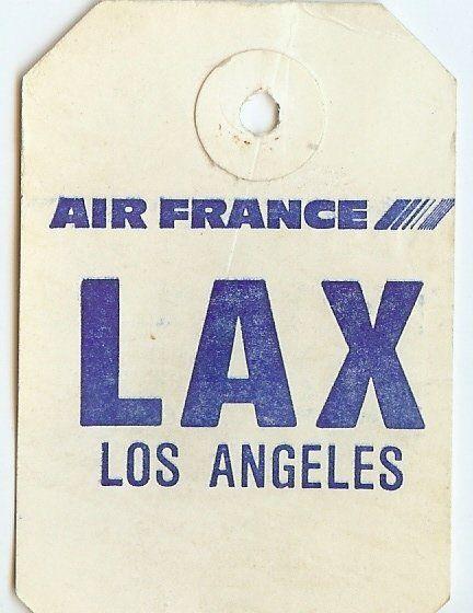 LAX Air France Luggage tag