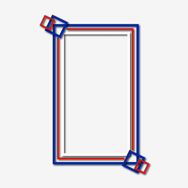 Blue White And Red Border Text Box Border Frame Blue Red Png And Vector With Transparent Background For Free Download Blue And White Red And White Flag Border Design