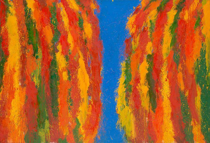 LEON TARASEWICZ (1957)  KOMPOZYCJA, 1996   olej, płótno / 130,5 x 190 cm  opisany na odwrocie: L. Tarasewicz 1996