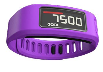 """Vívofit. Fitness band. Steps, distance, calories burned. """"vívofit learns your current activity level, then assigns an attainable daily goal. As you meet your milestones, vívofit will adjust your goal for the next day, gradually nudging you toward a healthier lifestyle."""" From Garmin"""