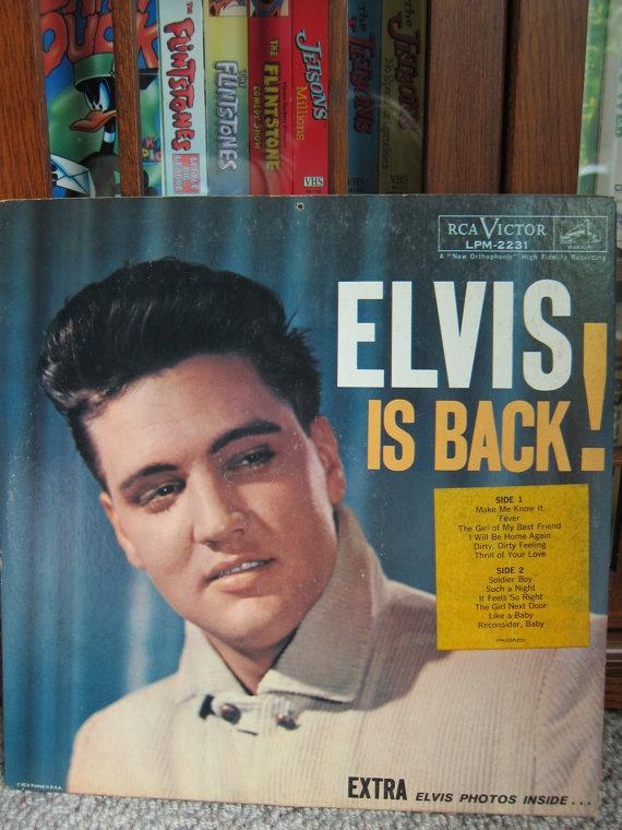 Vintage Vinyl Elvis is Back Original Mono LP by herbivorous, $10.00