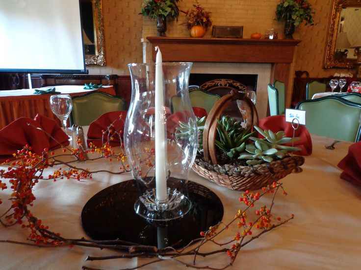 Fall Rehearsal Dinner Centerpieces