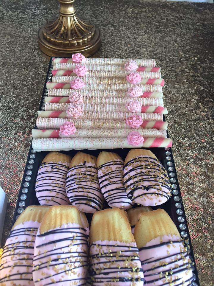 Paris birthday party cookies! See more party planning ideas at CatchMyParty.com!